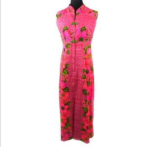 Beautiful vintage 70's floral maxi dress